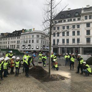 Plantning på Kongens Nytorv med Overborgmester Frank Jensen