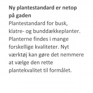 Ny plantestandard